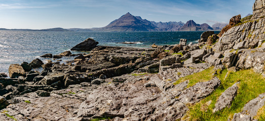 View from Elgol onto Loch Scavaig and the Cuillin Mountains