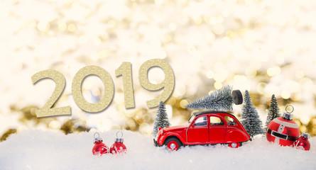 Silvester und Weihnachten 2019 Karte