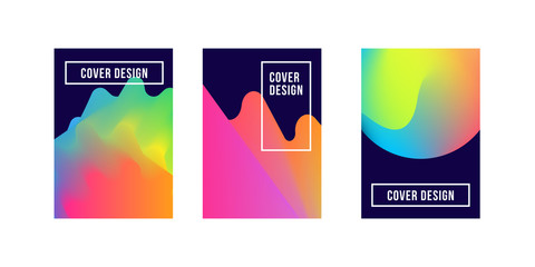 Set of gradient posters. Vector template. Eps10