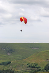 Wall Mural - Paraglider in the Brecon Beacons