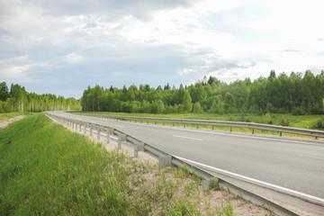 Road in Russian field