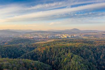 Wałbrzych panorama aerial view