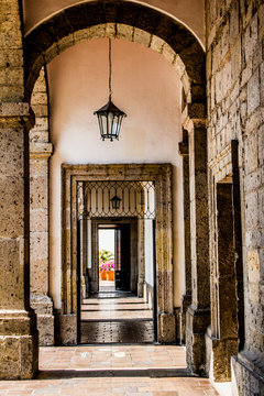 beautiful view of one of the halls of the cultural Institute Cabanas in Guadalajara Jalisco Mexico