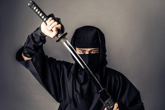 Japanese Ninja concept.