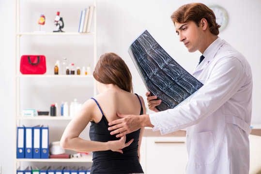 Male radiologist detecting cause of the illness