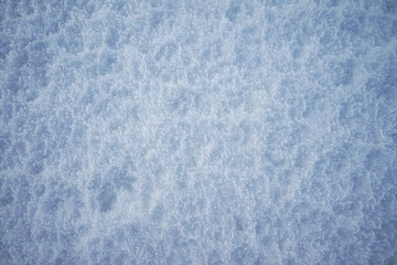 Snow texture on the field.