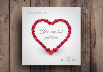 Heart Card Layout
