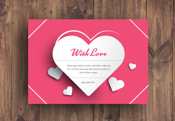 Heart Card Layout