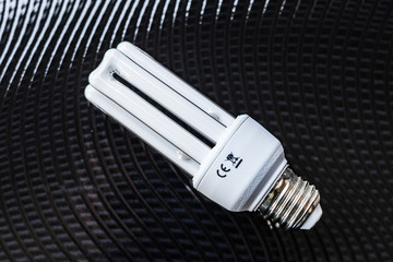 compact fluorescent lamp with black background