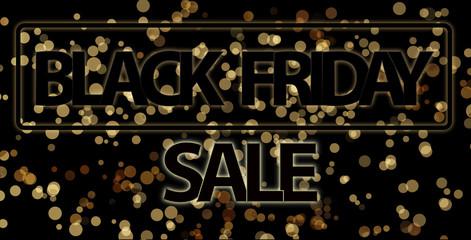 black friday sale 3d illustration