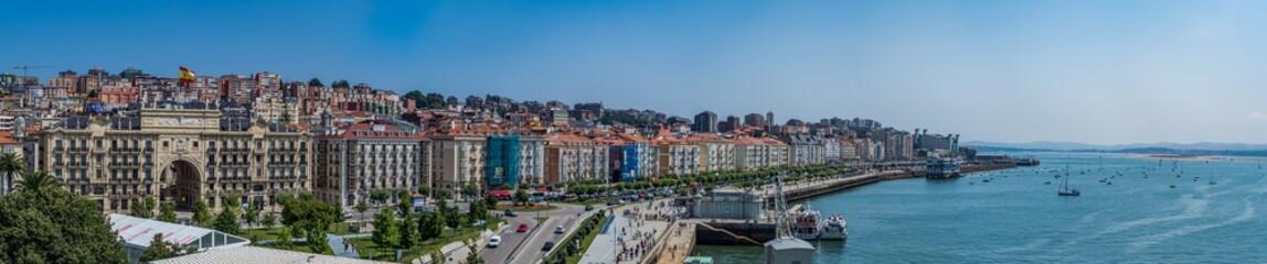 Hiszpania - 14 lipca 2018 - Santander w słoneczny dzień