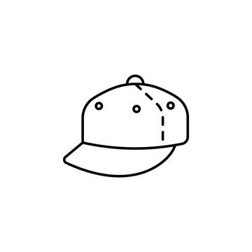 flat brim hat icon. Element of hat icon for mobile concept and web apps. Thin line flat brim hat icon can be used for web and mobile
