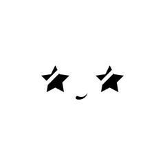 Smile, star eyes icon. Element of anime face icon for mobile concept and web apps. Anime Smile, star eyes icon can be used for web and mobile