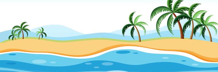 Summer beach panorama landscape