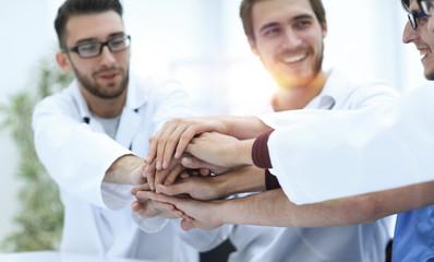 closeup.successful medical team
