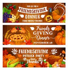 Thanksgiving dinner or Friendsgiving potluck party