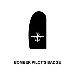 japan bomber pilot's badge military ranks and insignia glyph icon