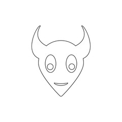 monster icon. Element of horrible creatures for mobile concept and web apps illustration. Thin line icon for website design and development, app development