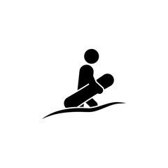 Skier icon. Element of winter tourism. Premium quality graphic design icon. Signs and symbols collection icon for websites, web design, mobile app
