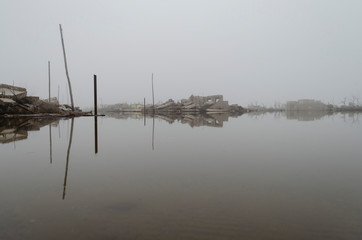 flood in Epecuen, Buenos Aires, Argentina