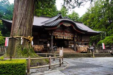 Fujiyoshida Sengen Shrine in Fujiyoshida city with a sacred tree in front, Japan - Sep 2018 Wall mural