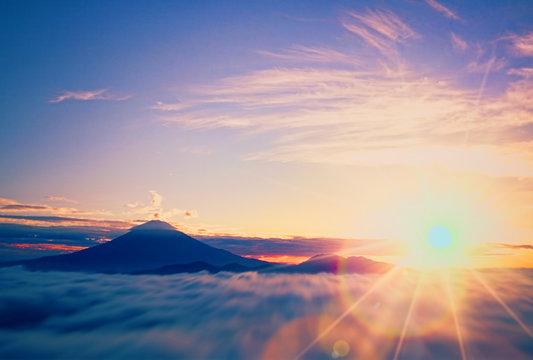 富士山の初日の出