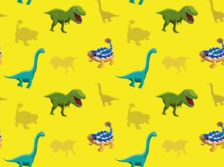 Dinosaurs Wallpaper Vector Illustration 11