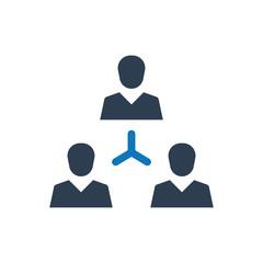 Teamwork connectivity icon