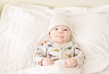 cute baby in bed