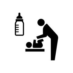nursery room, nursing room icon / public information symbol