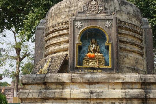 Reliefs on the walls of the Mahabodhe temple, Bodhgaya, Bihar, India