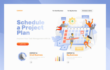 Schedule a Project Plan Web Page