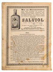 Used paper sheet Health medicine Vintage shop advertising