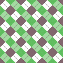 Seamless argyle plaid blue pattern. Diamond check