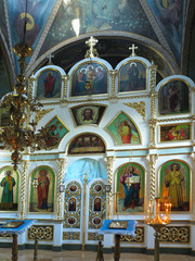 13.10.2018, Moldova: Interior decoration of Tiganesti Monastery orthodox church