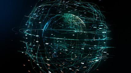 global network illustration symbolizing global IT