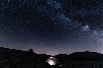notte stellata con tenda Wall mural