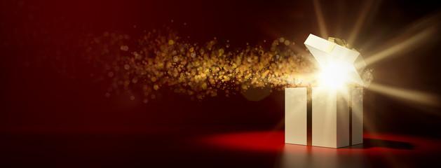 Geschenk zu Weihnachten als Überraschung