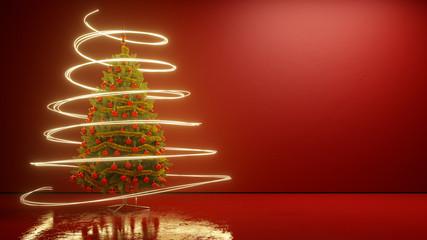 Weihnachtsbaum mit leuchtendem Licht