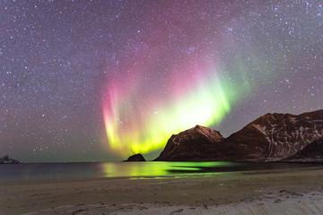 Nordlichter am Hauklandstrand