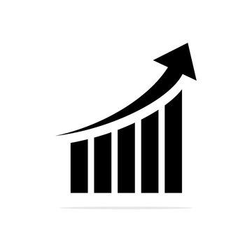 High graph icon. Vector concept illustration for design.