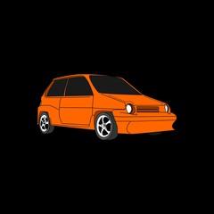 city car vector illustration