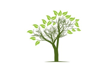 abstract tree logo Designs Inspiration Isolated on White Background
