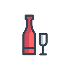 champagne icon filled outline style