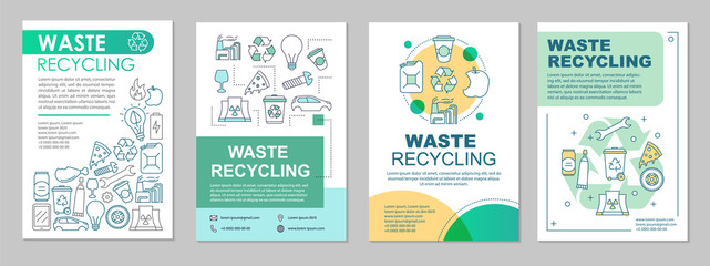 Waste recycling brochure template layout
