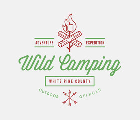 Outdoor wild camping white pine county