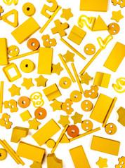 many yellow toys