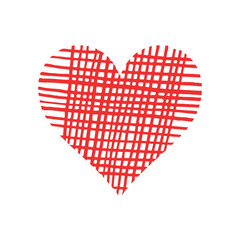 Abstract bright red vector heart