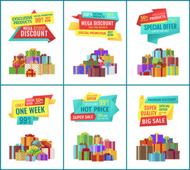 Special Offer Mega Discount Vector Illustration