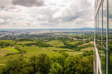 Vienna Cityscape Vineyards Overcast Panorama